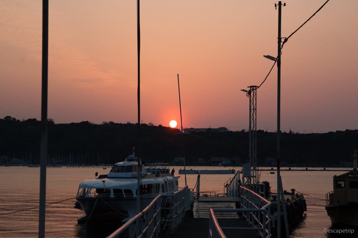 沼津の海と夕日