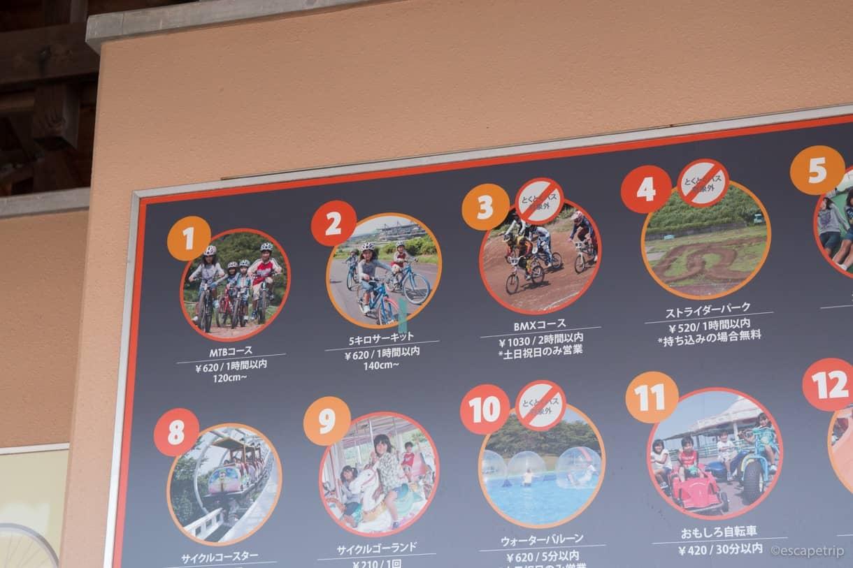 伊豆サイクルスポーツセンターの施設