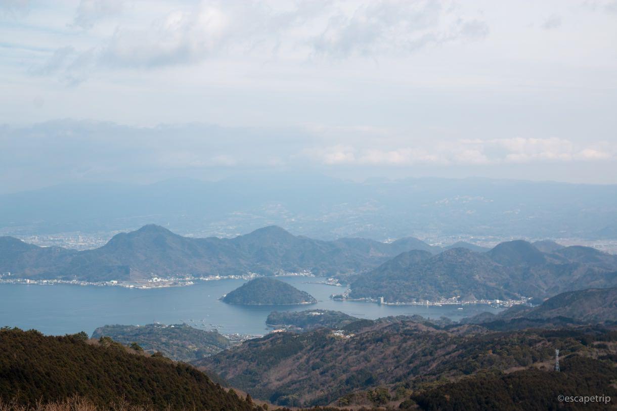 だるま山高原レストハウスから見る駿河湾