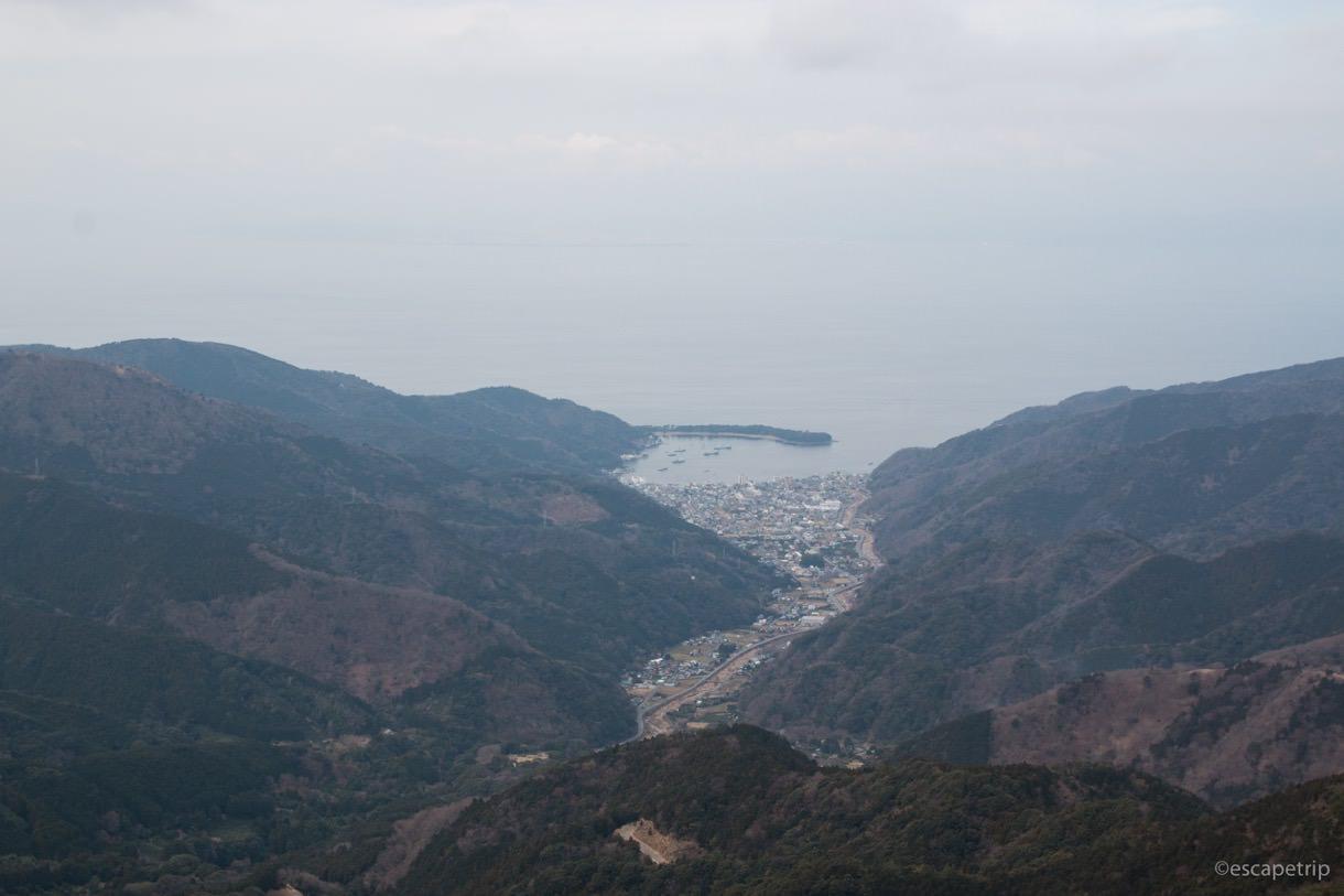西伊豆スカイラインから見た駿河湾