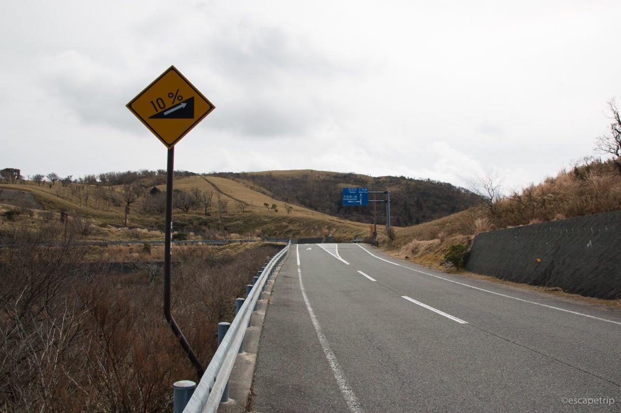 西伊豆の道の斜度