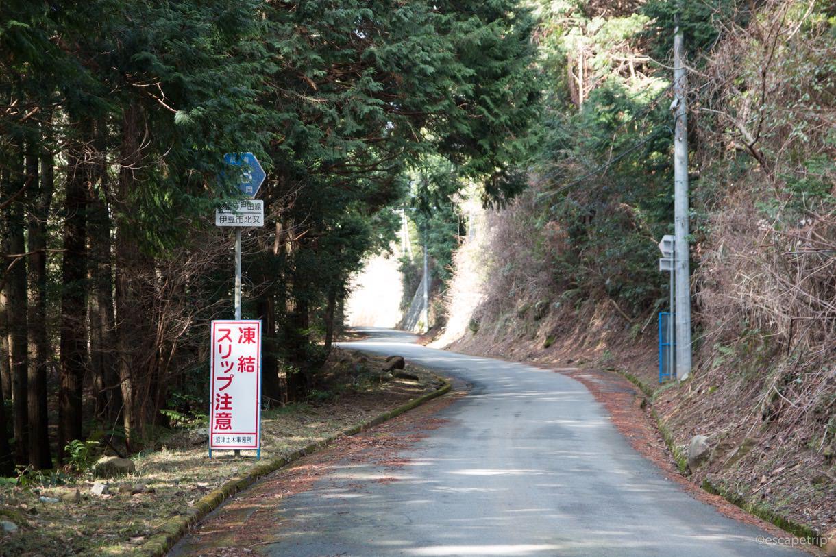 修善寺から西伊豆スカイラインに向かう道