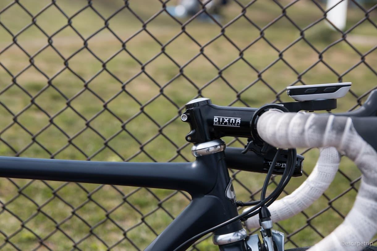 自転車コラムカット後の写真