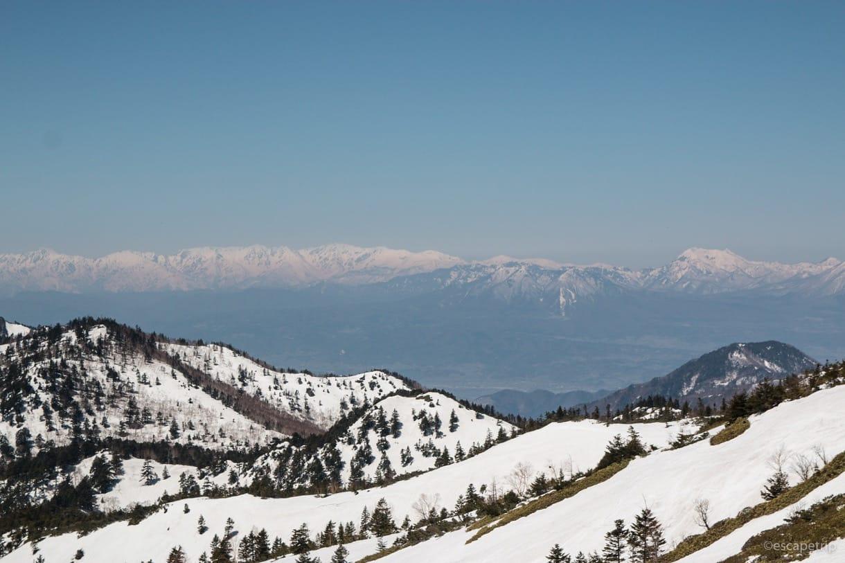 渋峠から見える山々