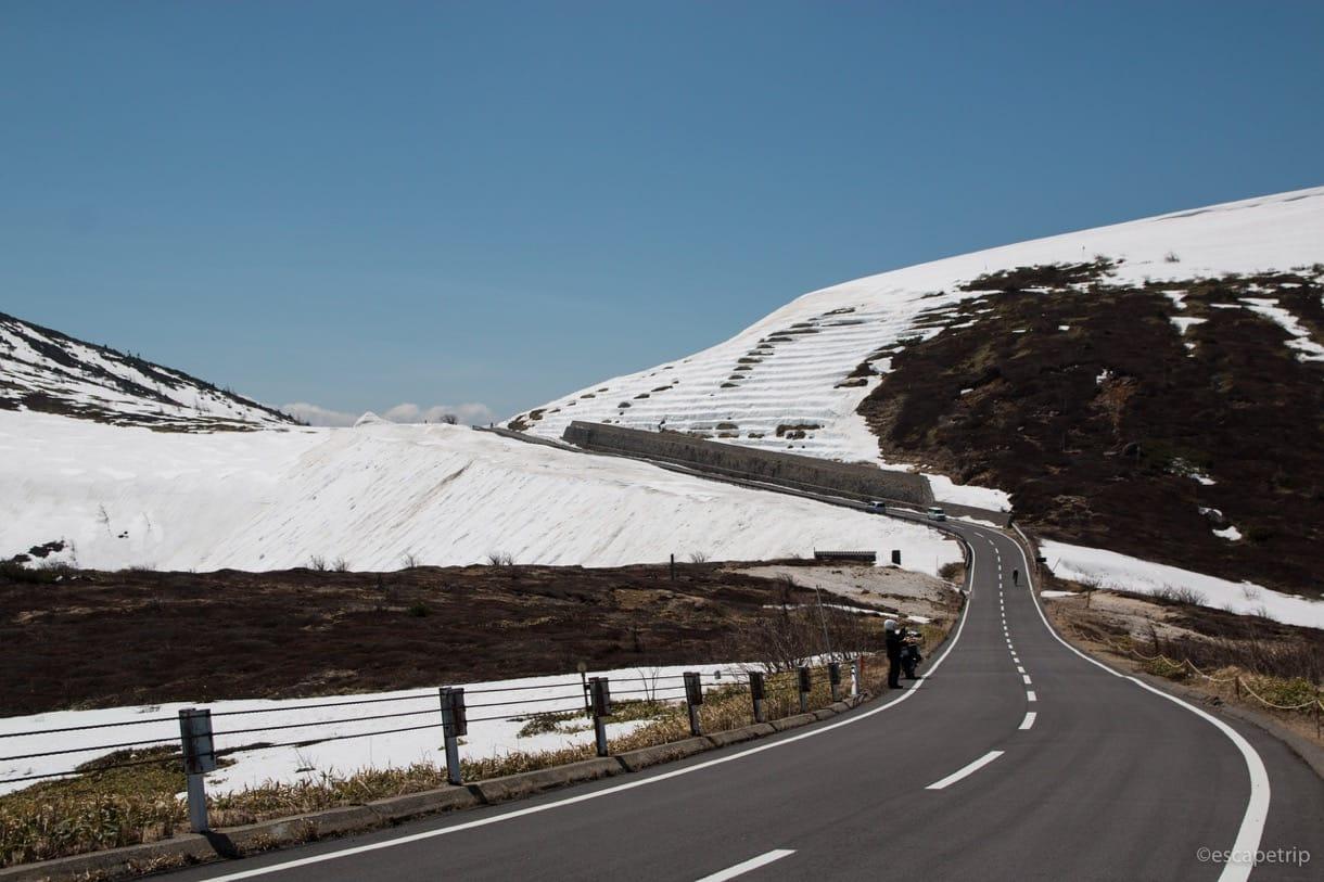 渋峠の道路