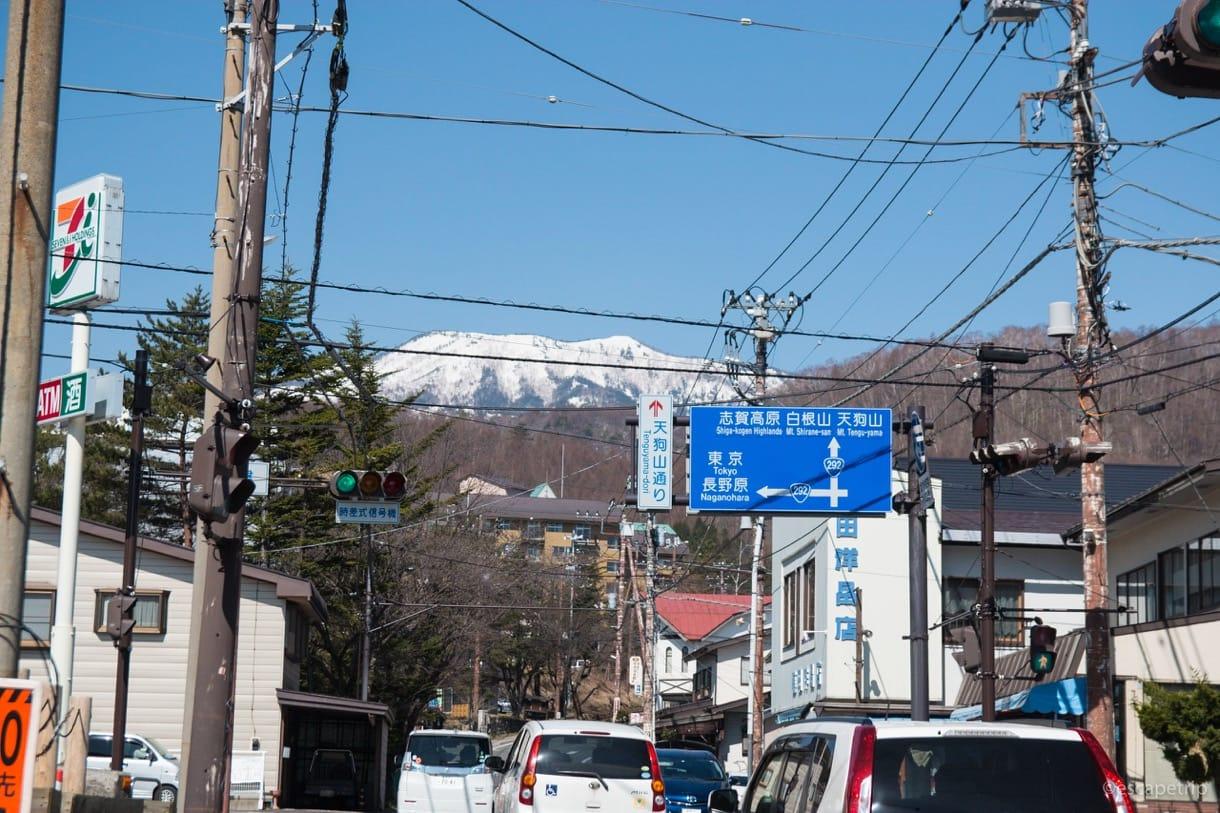草津温泉から渋峠に向かう道