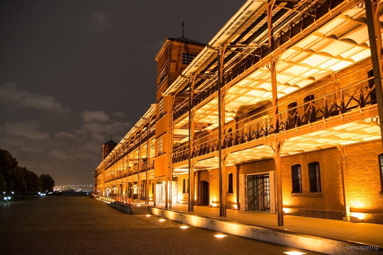 赤レンガ倉庫のライトアップ
