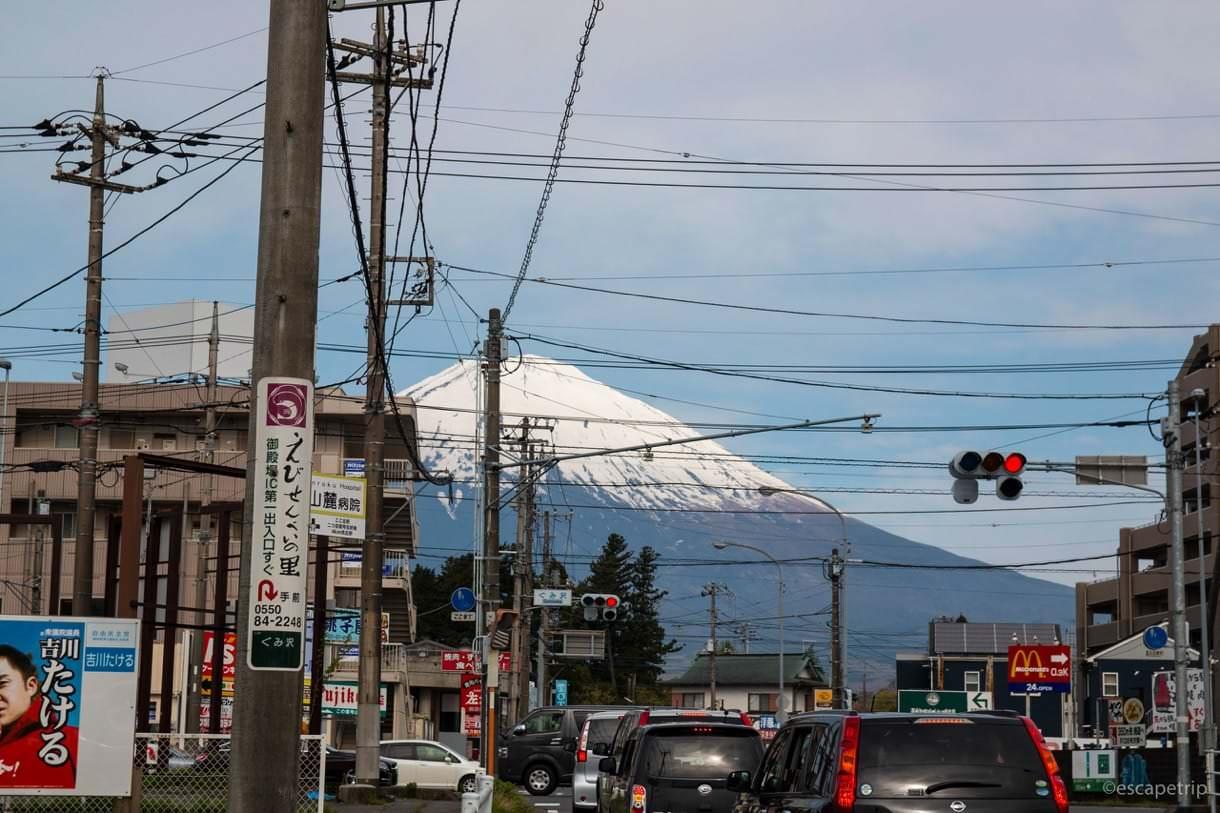 御殿場駅から見える富士山