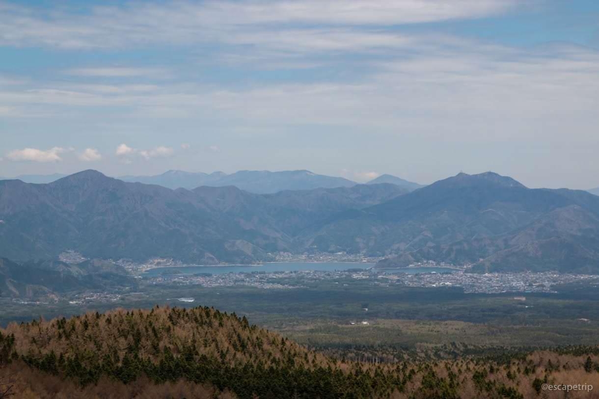 富士スバルライン休憩所からの景色