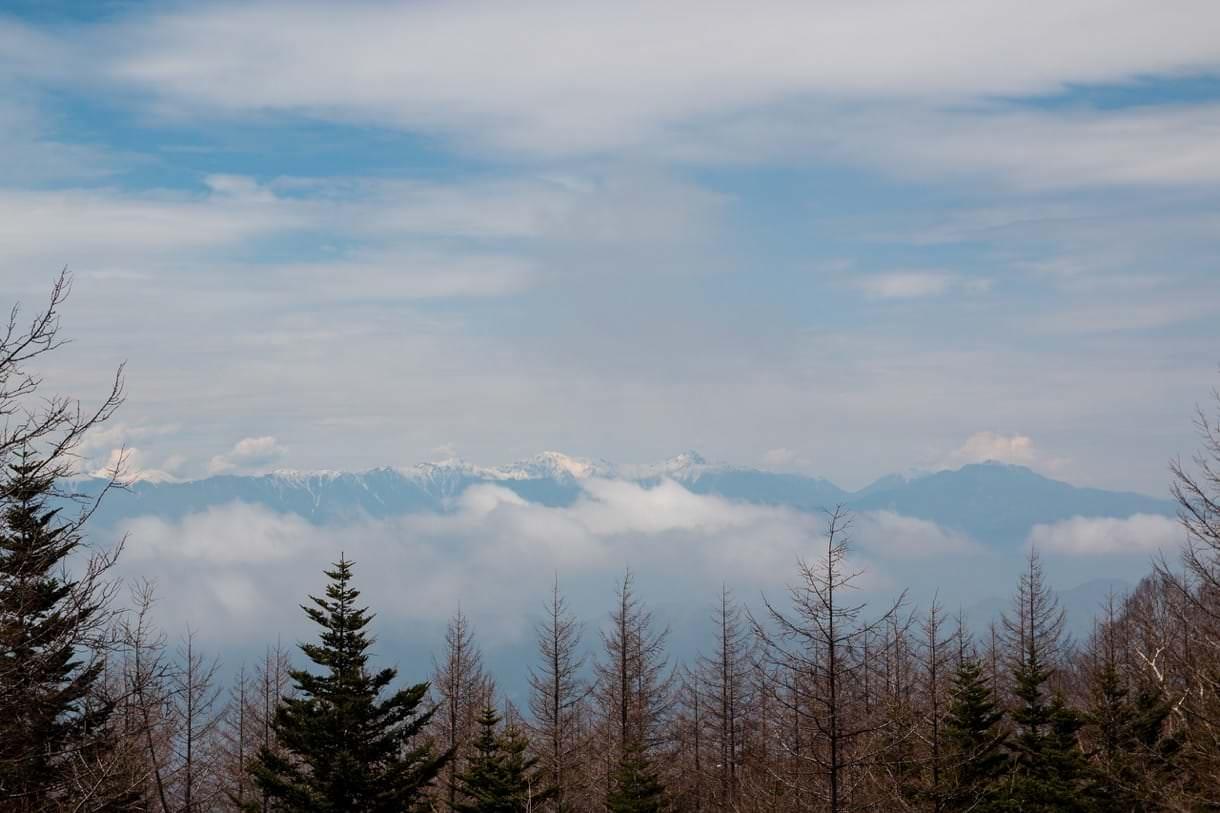 富士スバルラインから見える南アルプス
