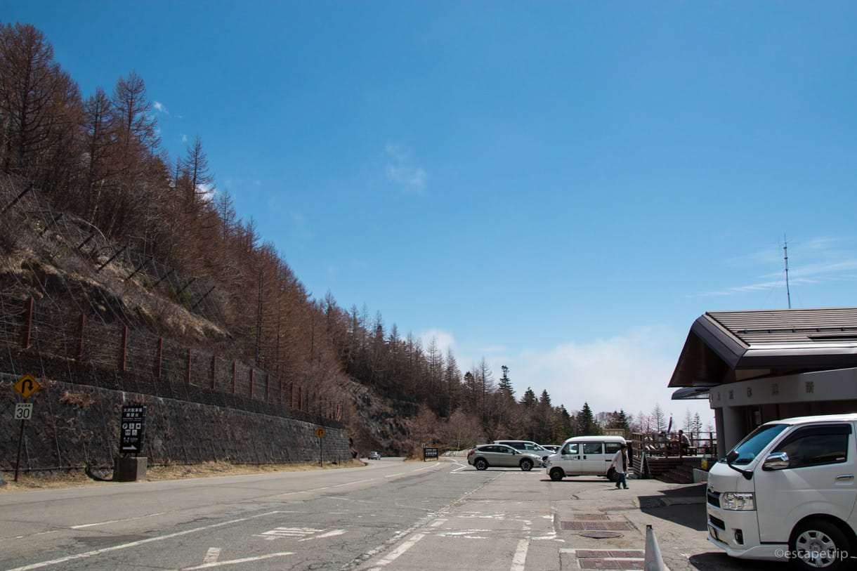 富士スバルラインの大沢駐車場