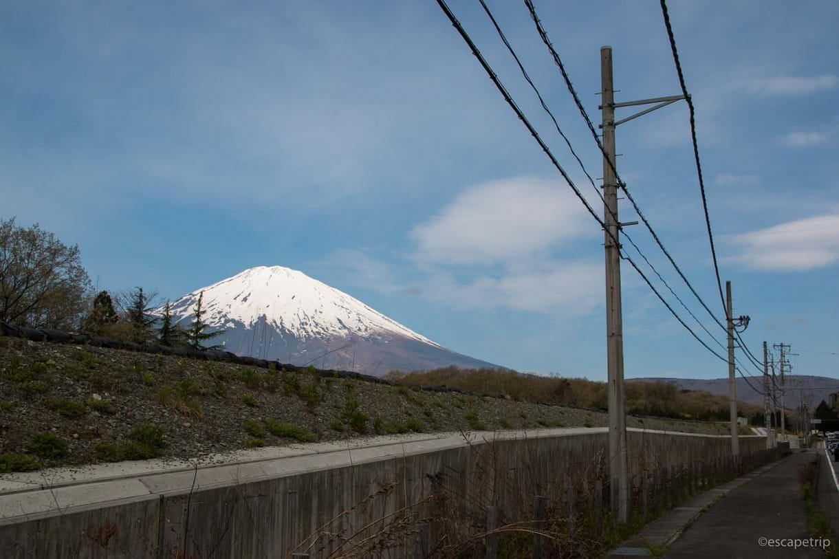 富士山をちら見