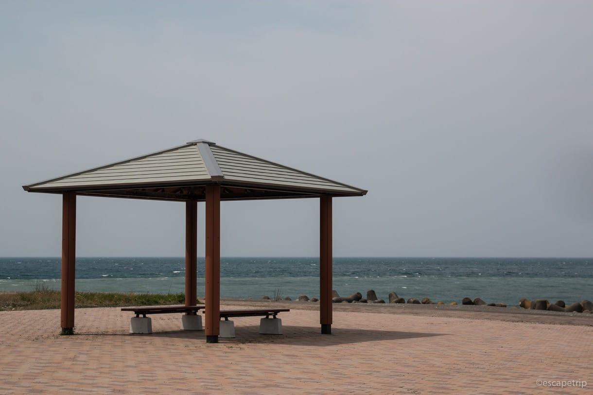 糸魚川市から見える日本海