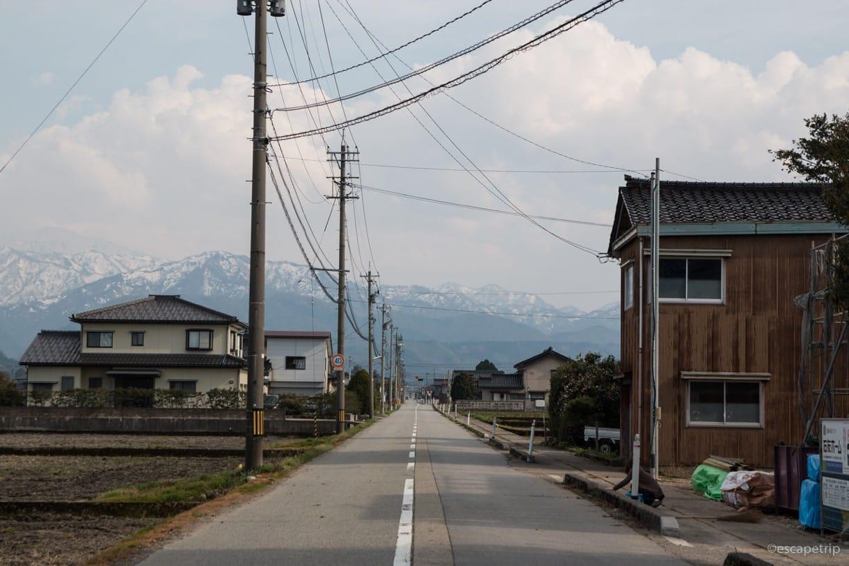 富山からのぞむアルプスその2