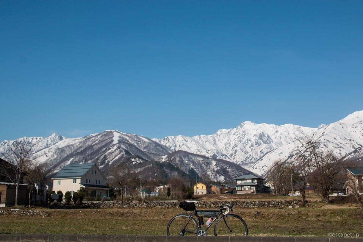 北アルプスとロードバイク