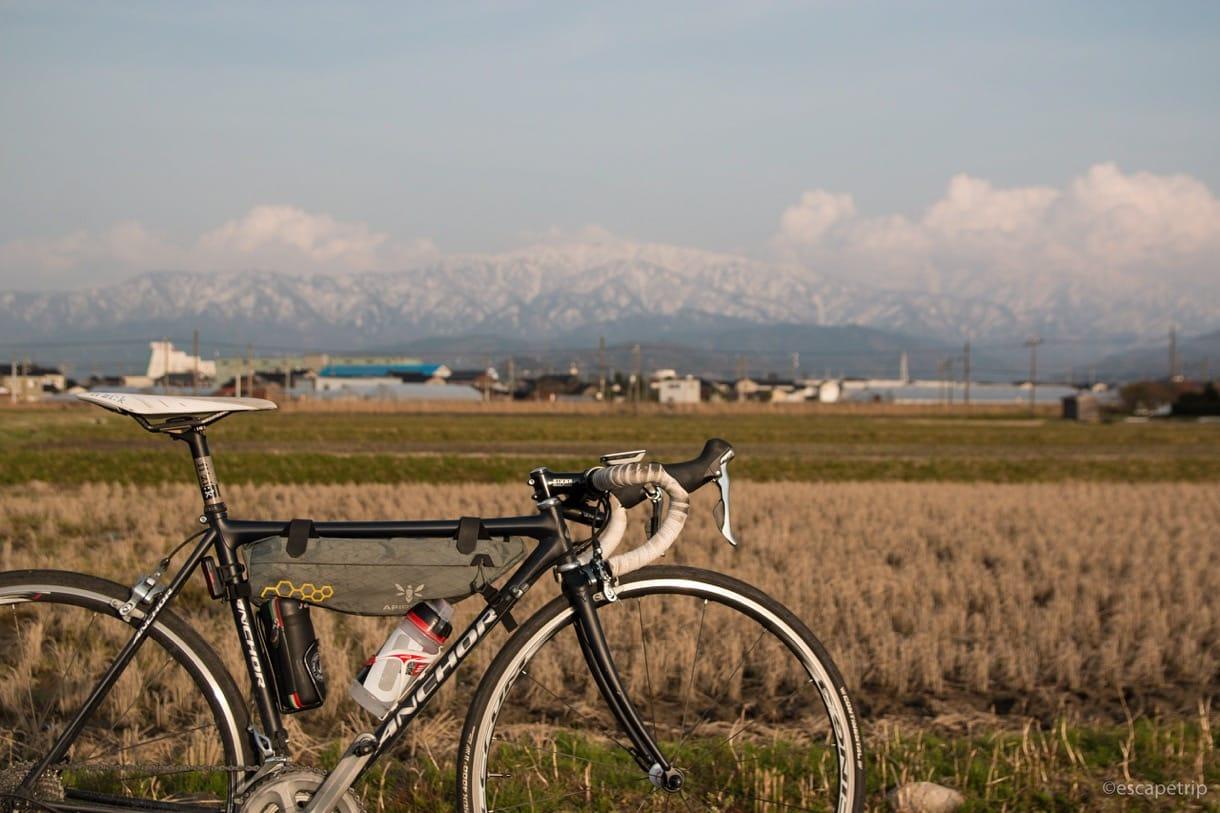 ロードバイクとアルプス