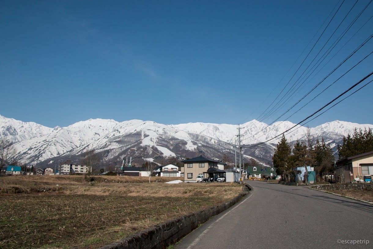 白馬村から見る北アルプス
