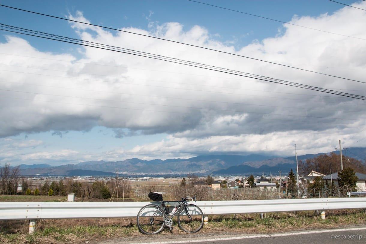 晴れた長野とロードバイク
