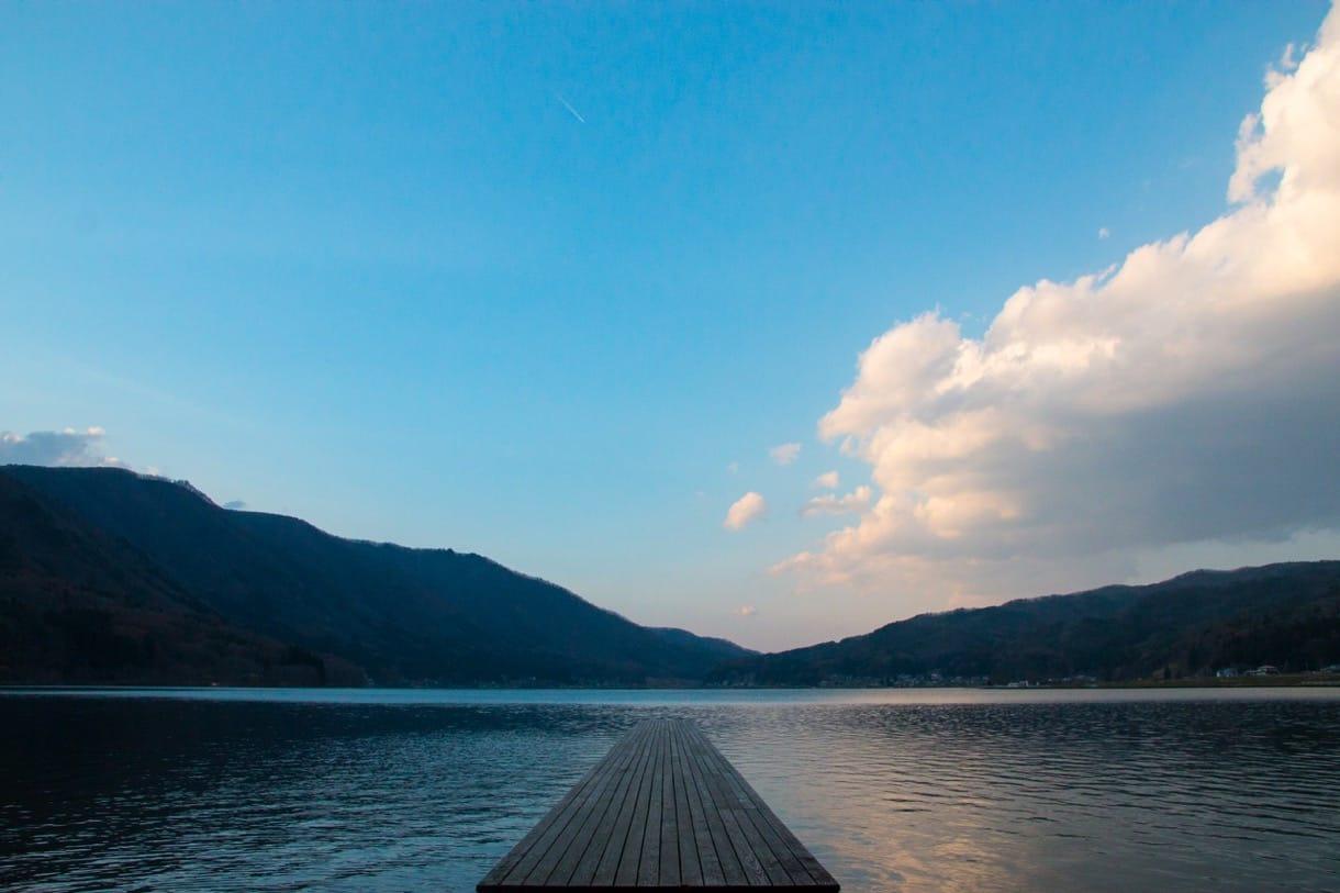 木崎湖の定番アングル