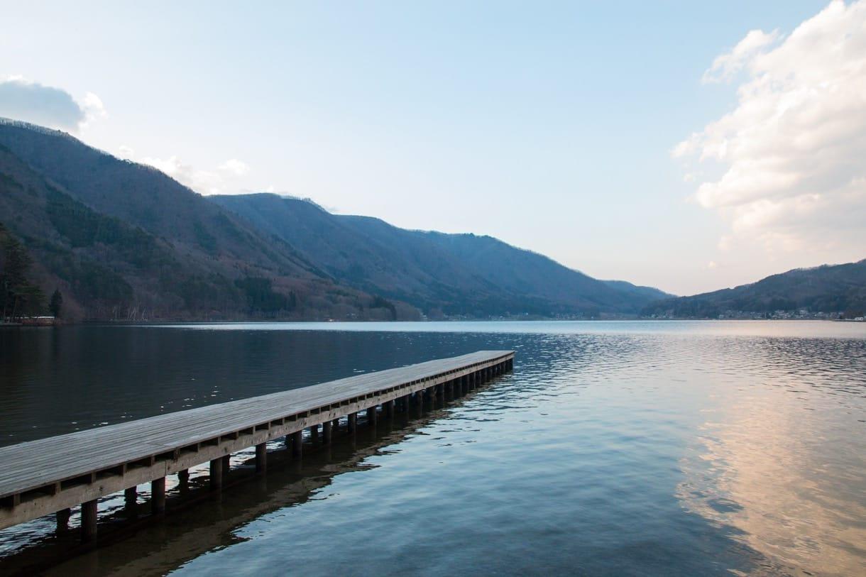 木崎湖の桟橋その2