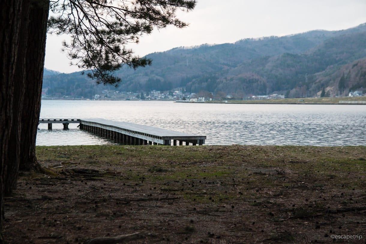 木崎湖の桟橋その3