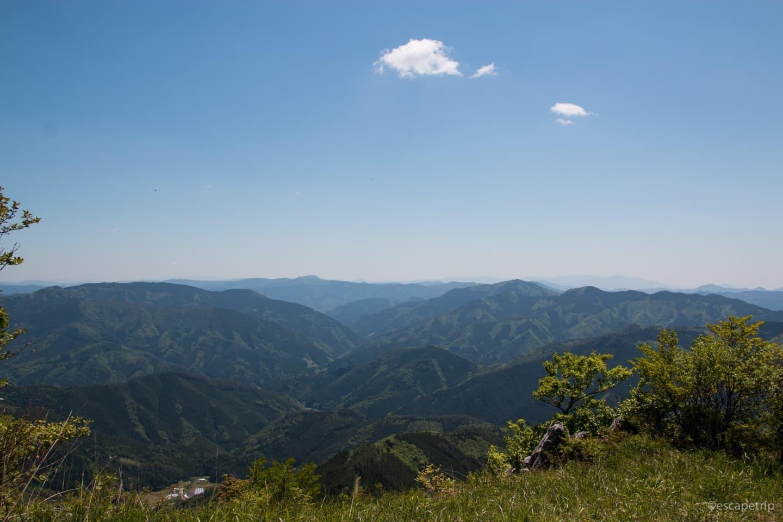 四国カルスト直前の風景