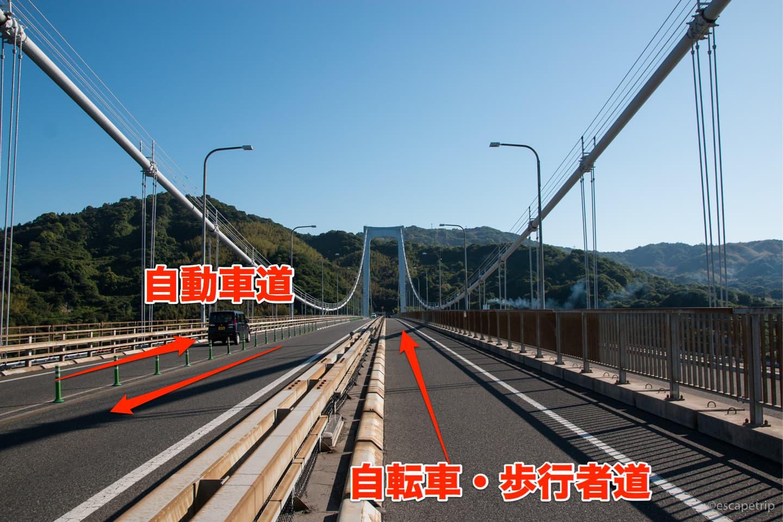 自転車道は広い