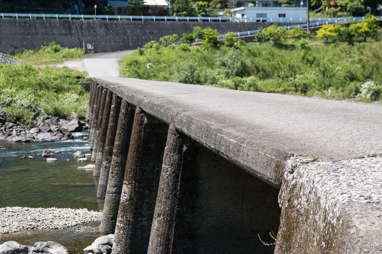 沈下橋には欄干がない