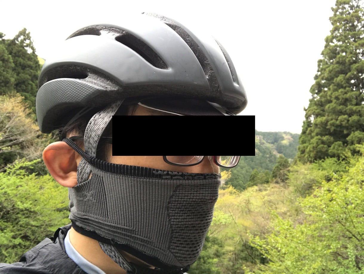 スポーツ用マスクとメガネの併用