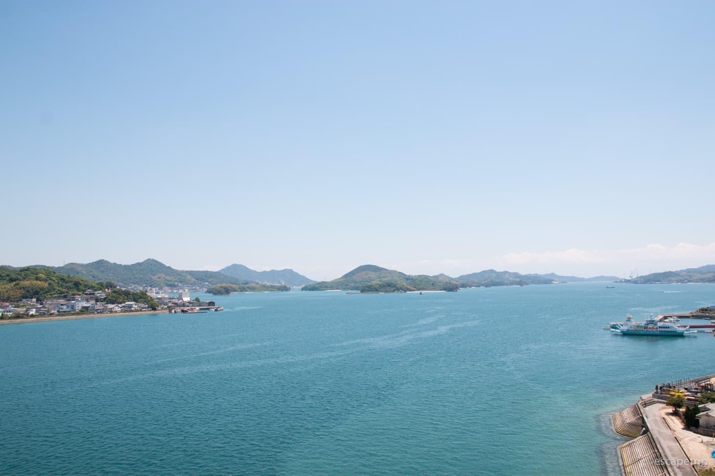 瀬戸内海の海と空