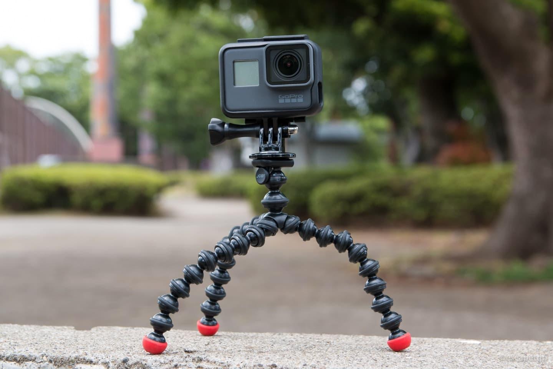 GoProを装着したゴリラポッド