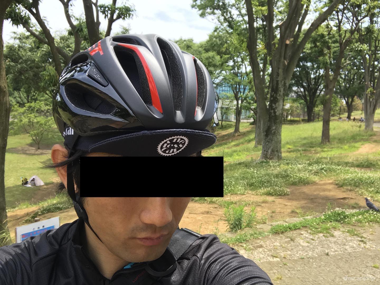METのヘルメット「リヴァーレHES」の着用イメージ