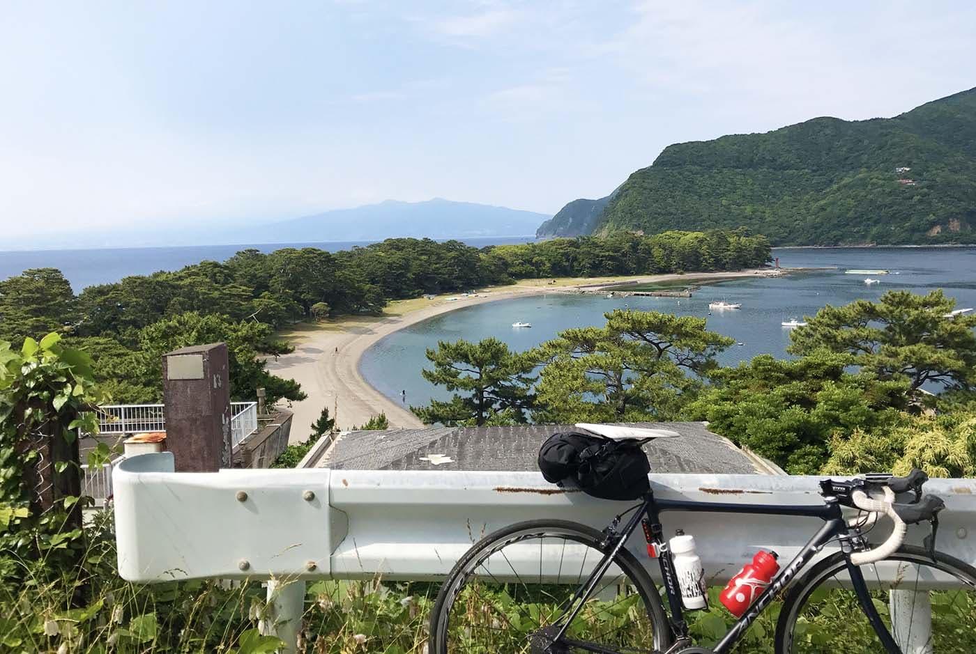 伊豆海とロードバイク