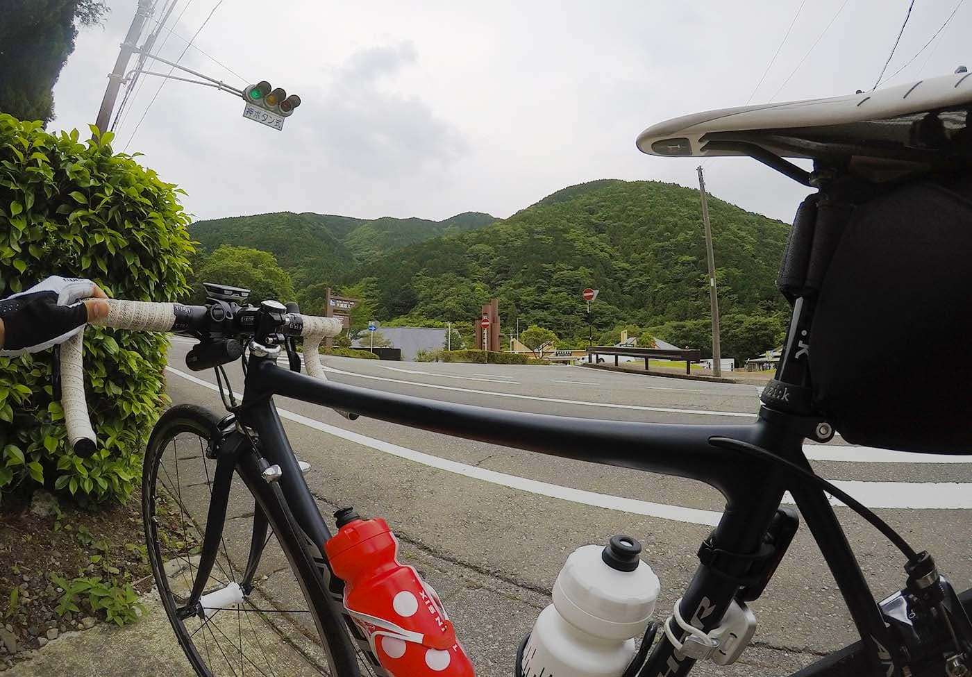 道の駅天城越えとロードバイク