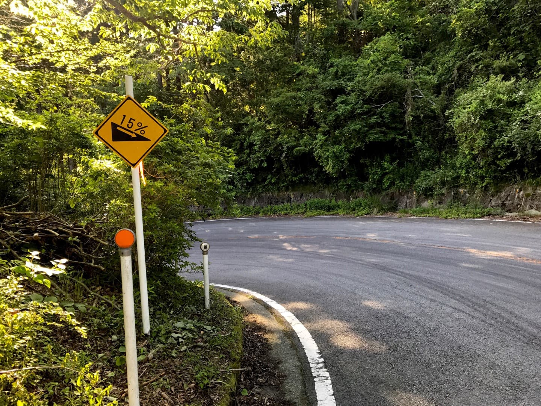足柄峠の斜度