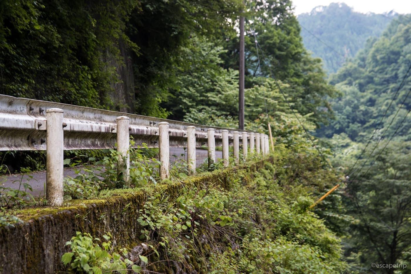 風張林道の坂
