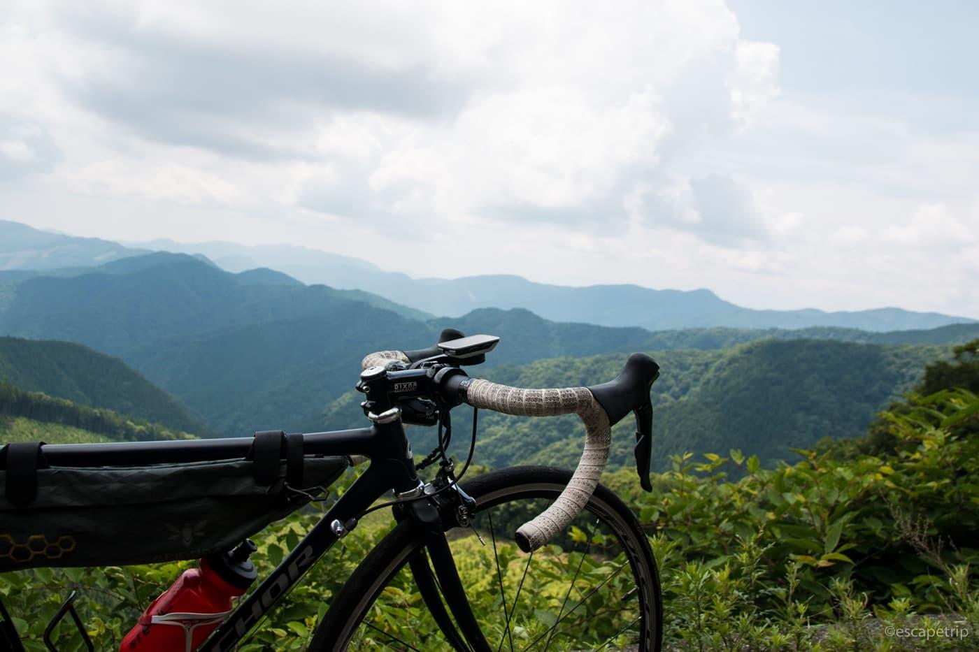 ロードバイクの風張林道
