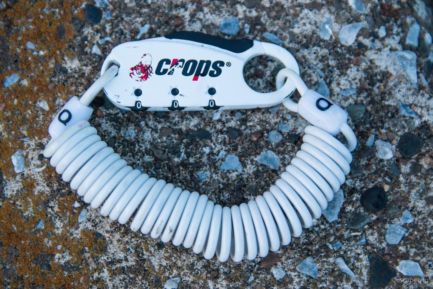 クロップスの小型ワイヤーロック