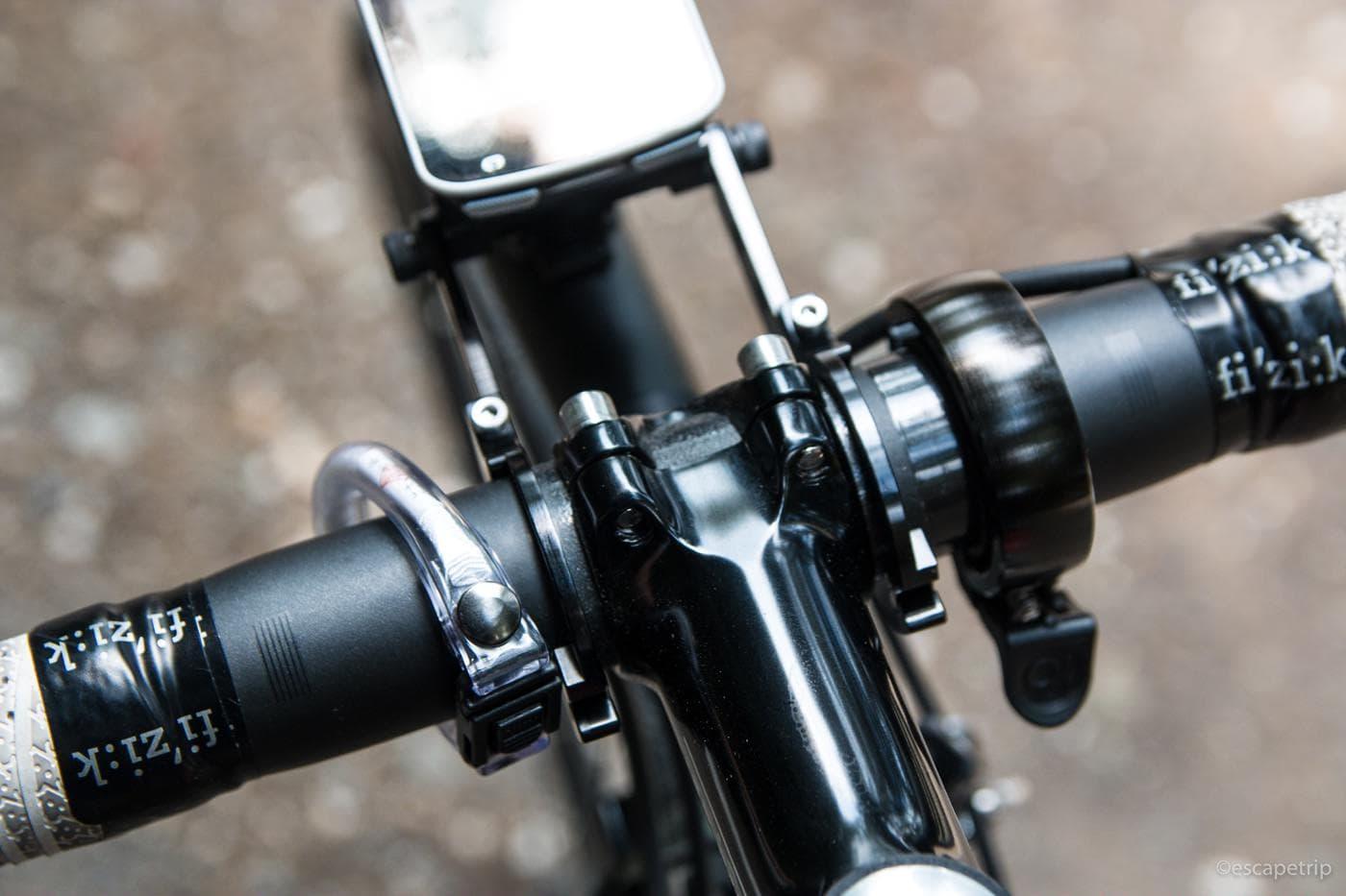 自転車のお守りを自転車に装着