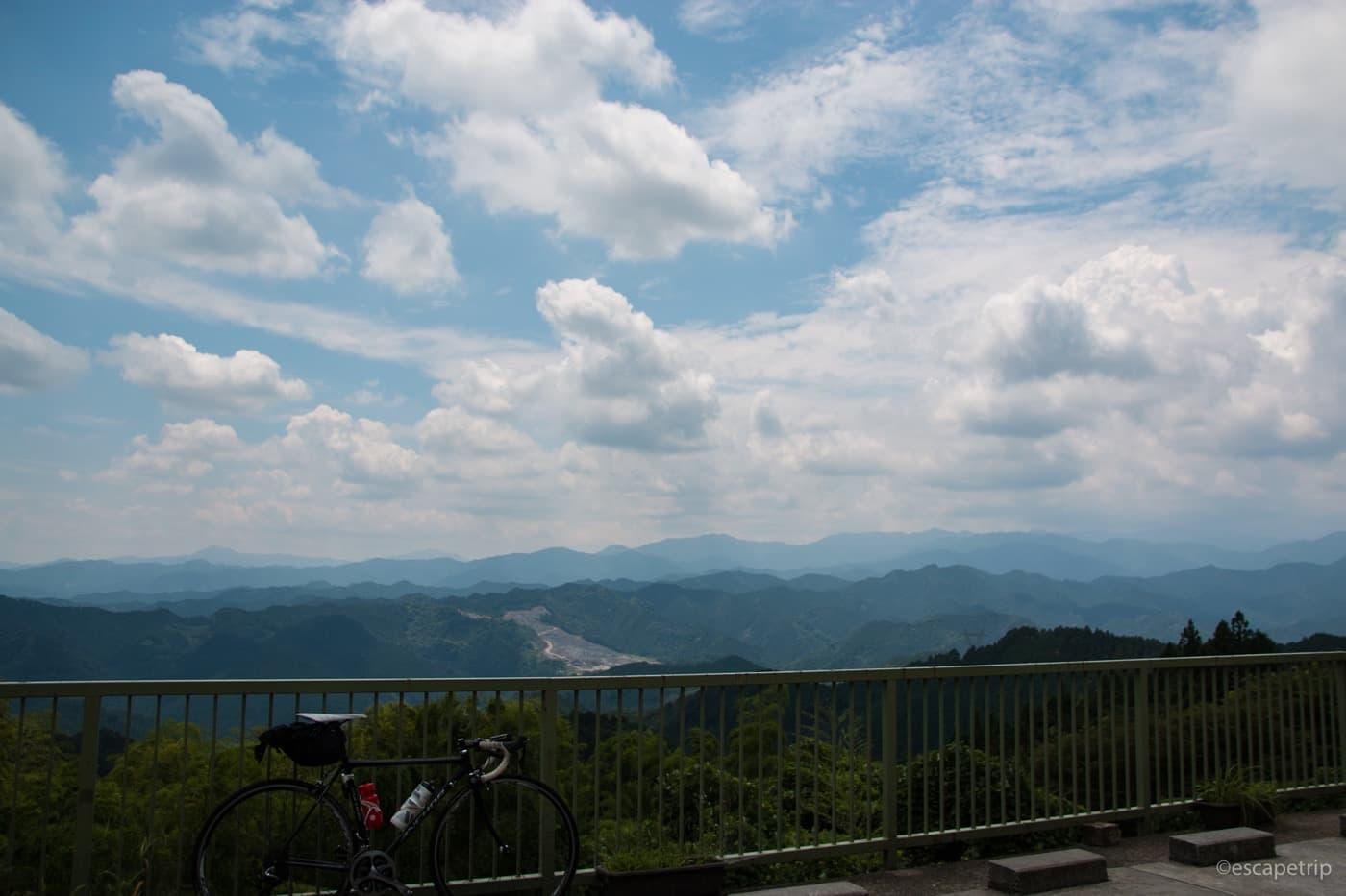 顔振峠からの眺望