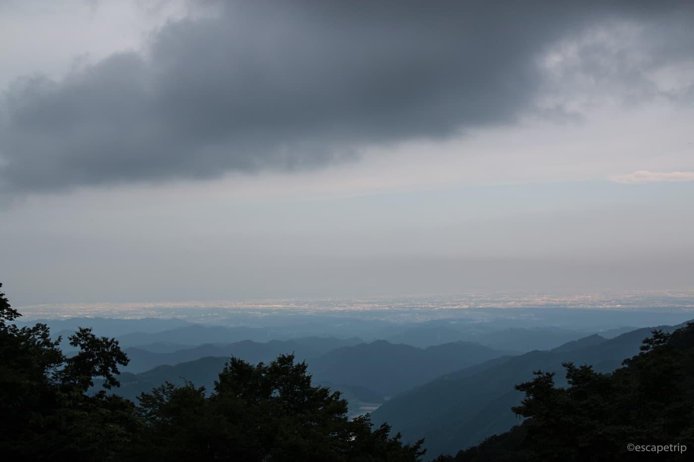 有間峠からの眺め