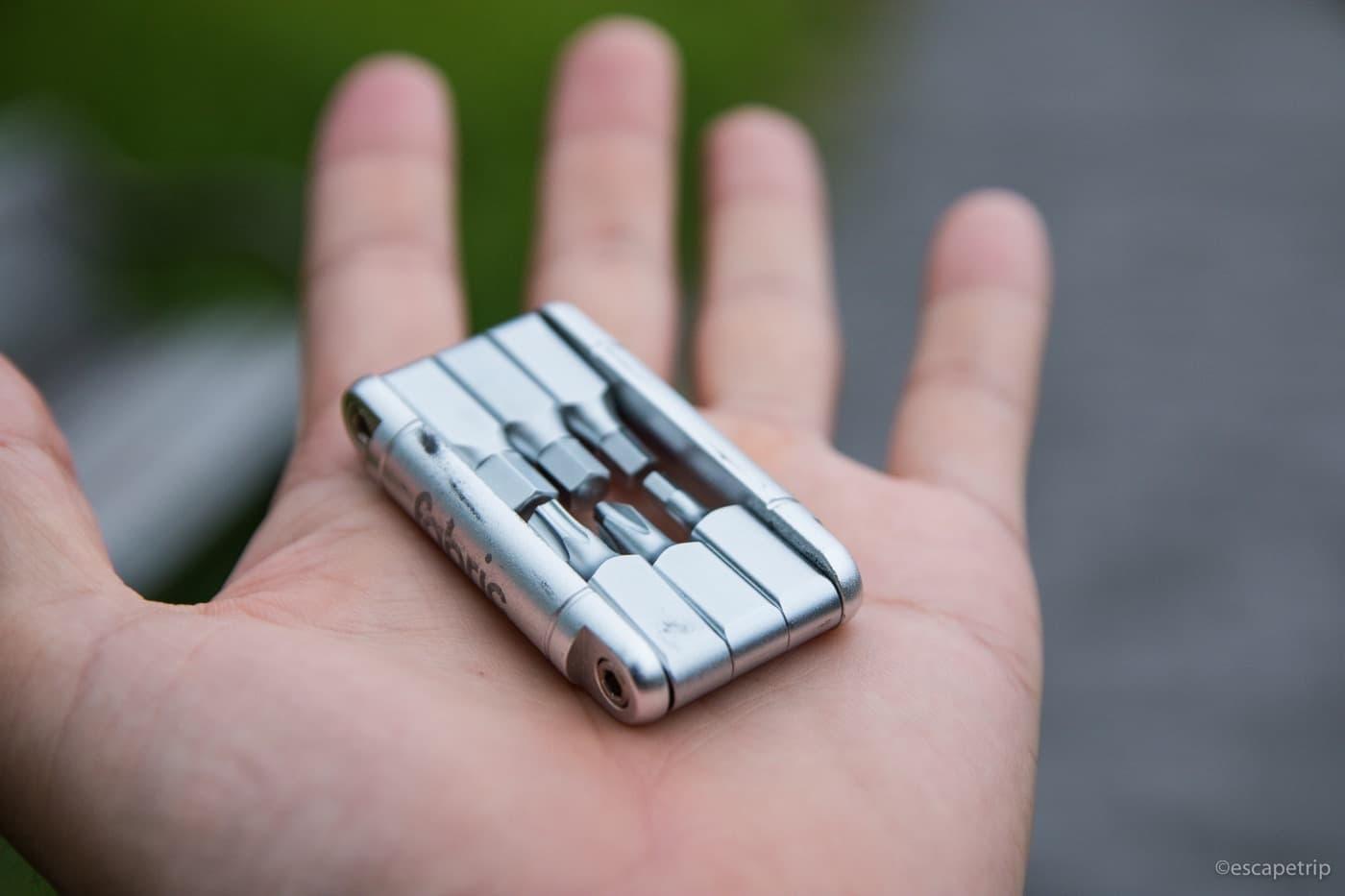 ファブリックの携帯工具のサイズ