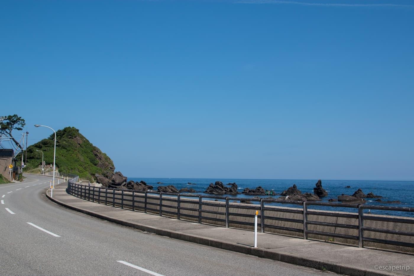 能登半島の海岸線