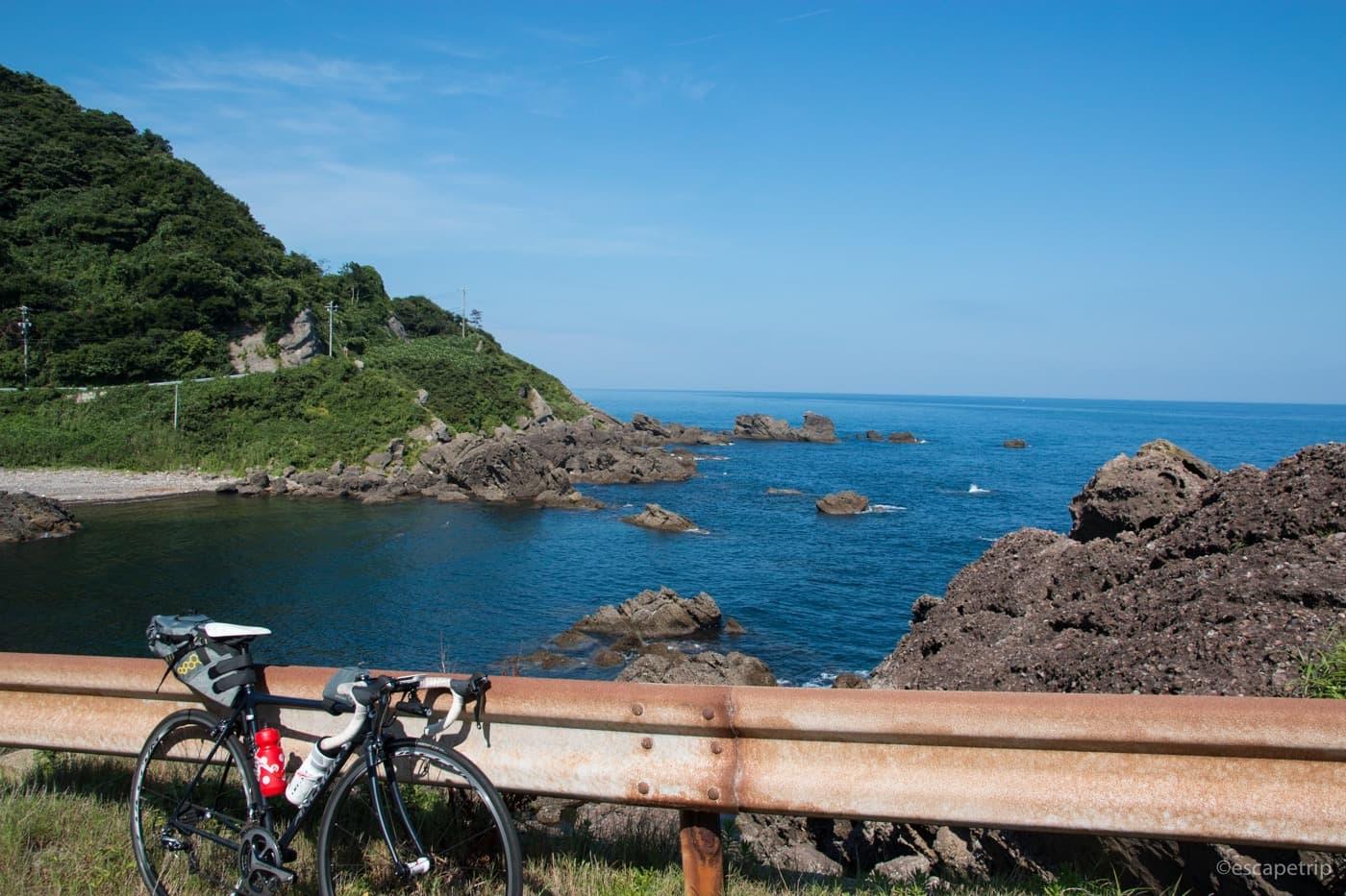 能登半島とロードバイク