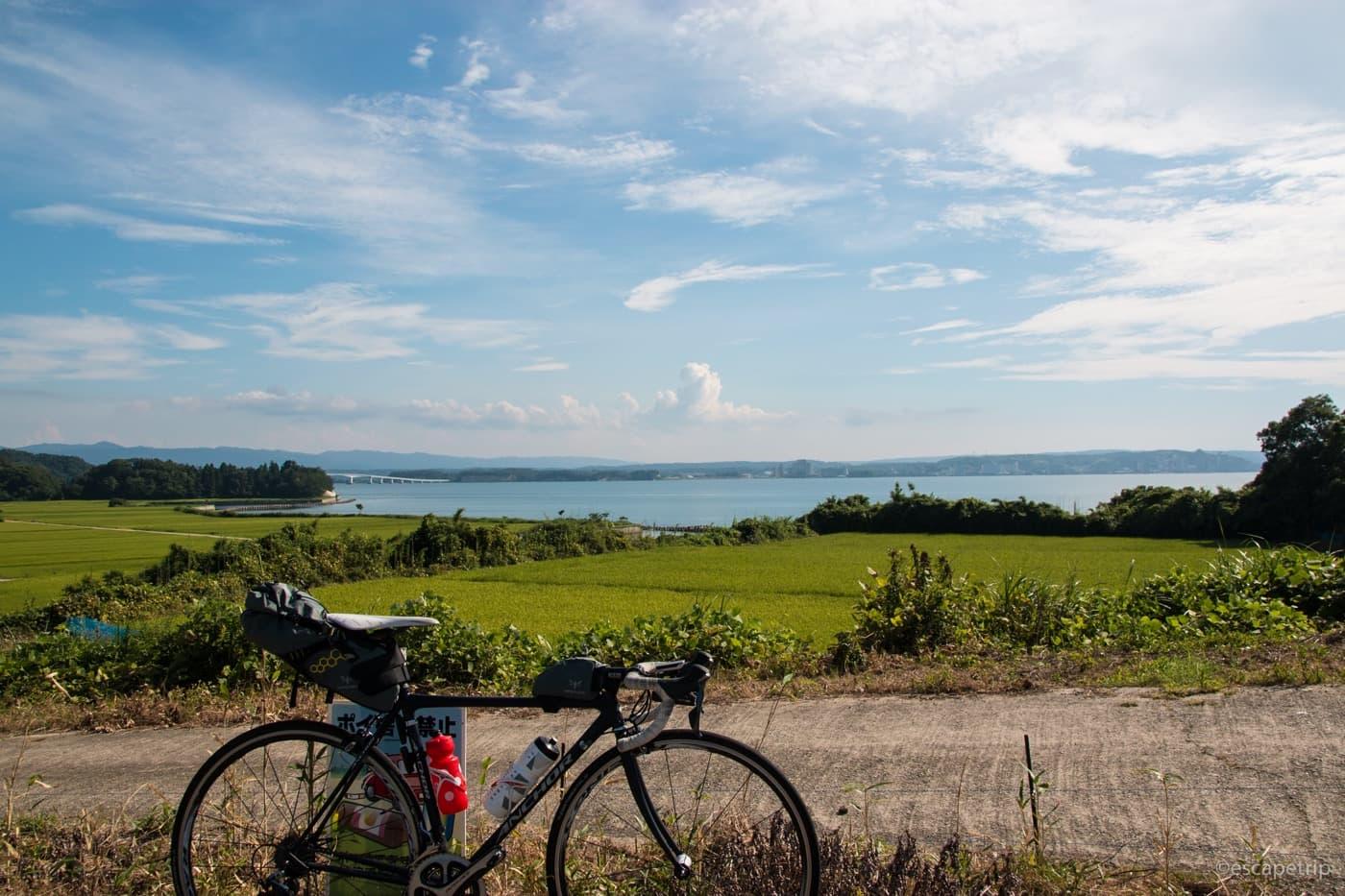 能登島から見る能登半島