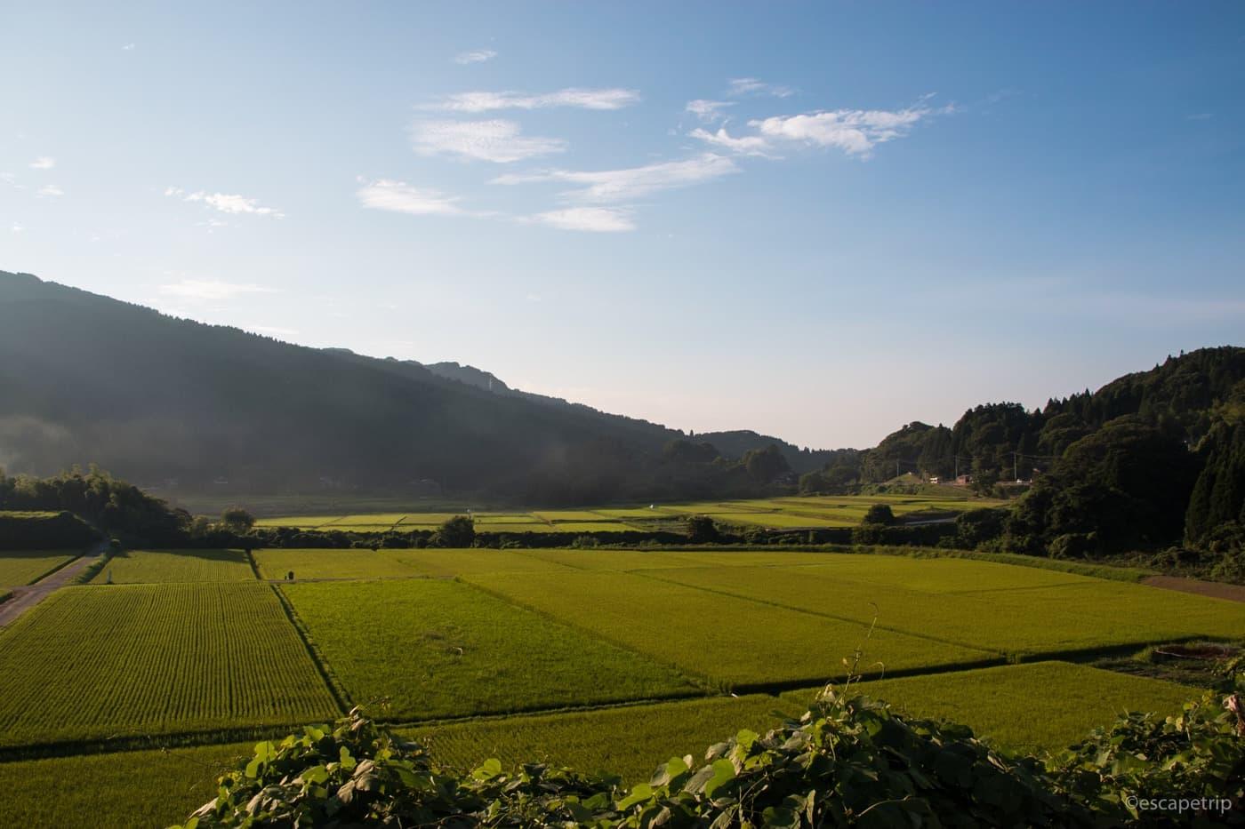 能登半島の田園風景