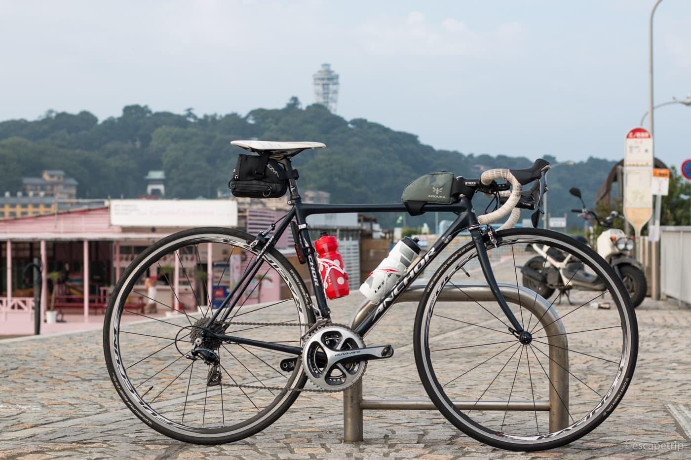 江ノ島とロードバイク
