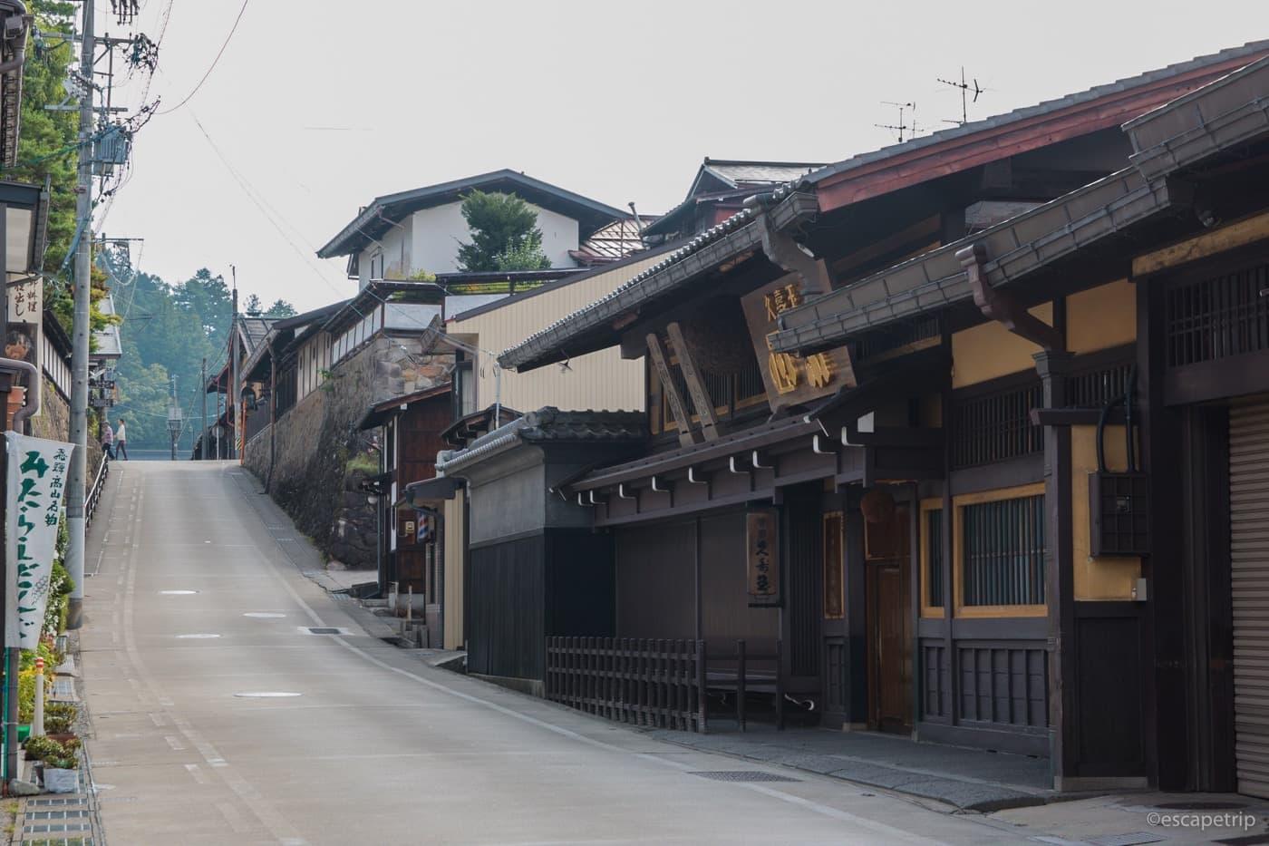 高山市の坂道