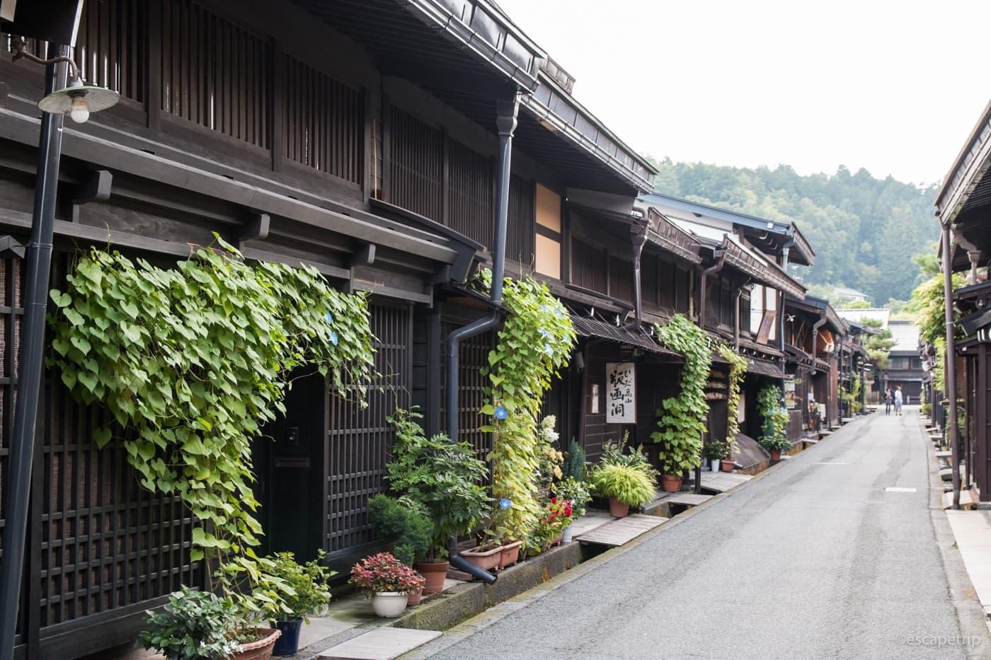 建物の古い街並み