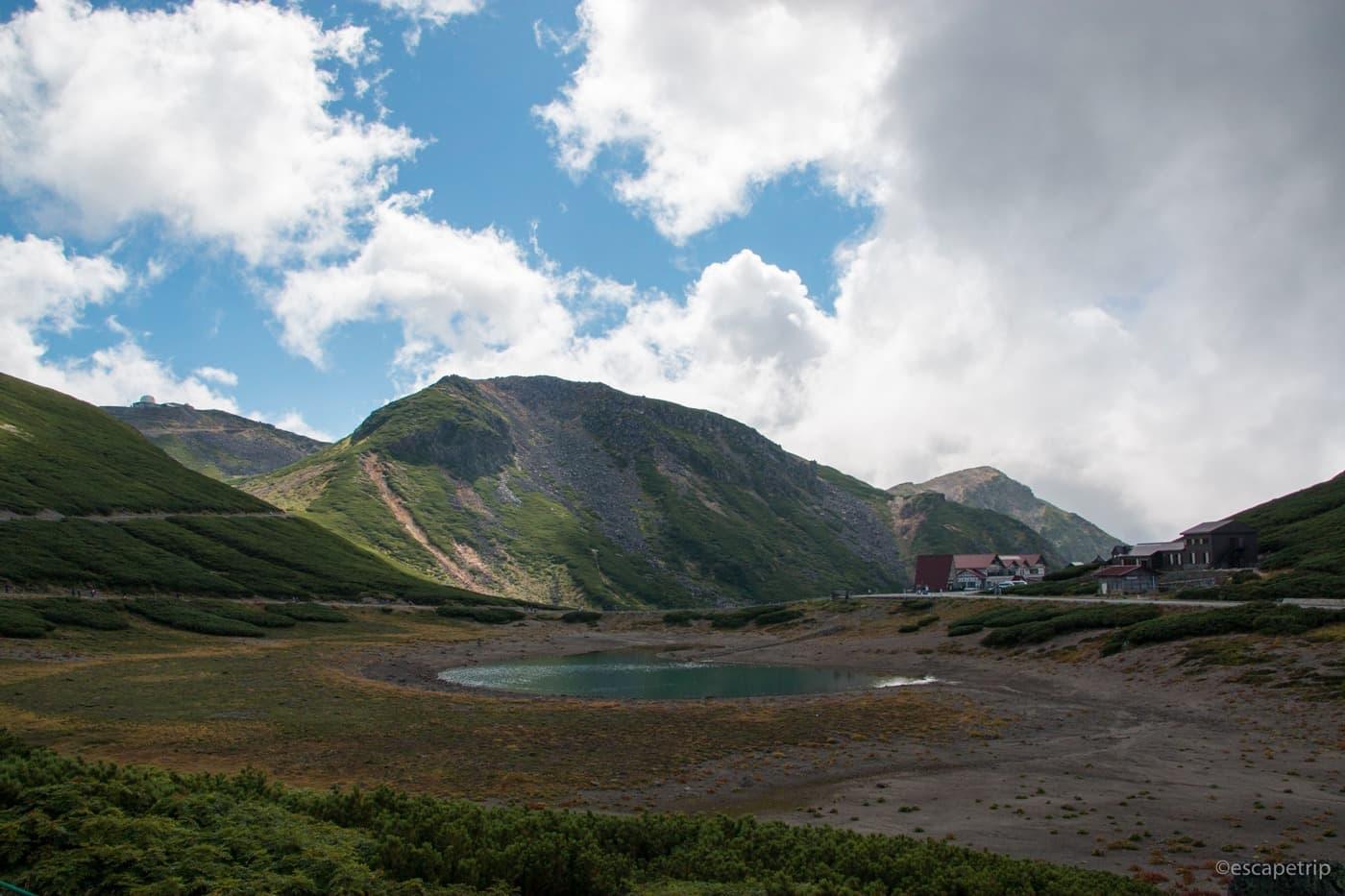 乗鞍岳畳平の鶴ヶ池